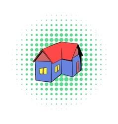 Cottage icon comics style vector