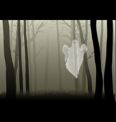 Creepy woods vector
