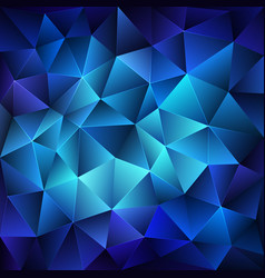 Dark blue polygonal background vector