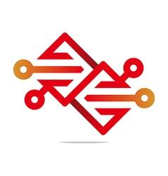 Element arrow color design symbol icon vector