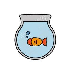 Fishbowl icon image vector
