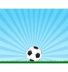 Football ball with rays background vector