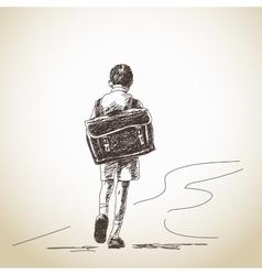 Hand drawn schoolboy vector