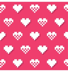 Heart pink seamless background Valentines vector image vector image