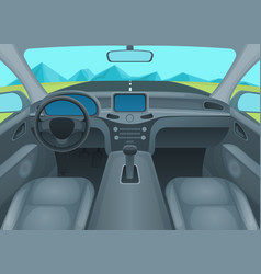 inside car or auto interior vector image vector image