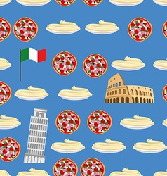 Italy seamless pattern sightseeing leaning tower vector
