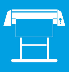 Large format inkjet printer icon white vector
