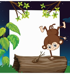 Playful monkey vector image vector image