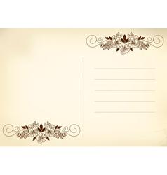 postcard beige vector image vector image