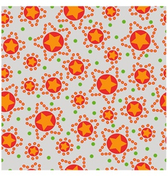 seamless pattern from stars vector image