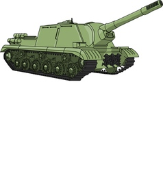 Self propelled gun vector