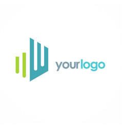 shape building logo vector image