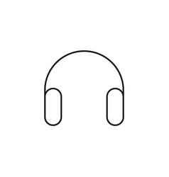 simple headphones icon vector image