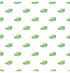 Sneakers pattern cartoon style vector