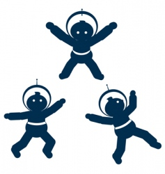 space babies vector image vector image