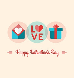 St Valentines Day card design in flat des vector image vector image