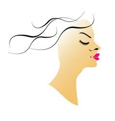 Wavy hair vector image