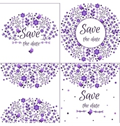 Set of floral frames Cute collection of vector image