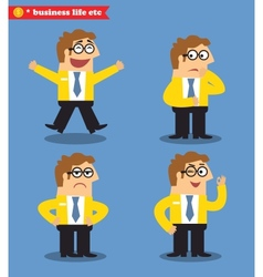Office emotions poses vector