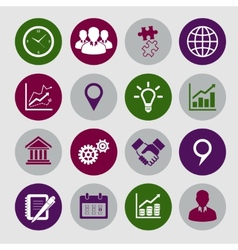 Business Icons Set and Design Elements vector image