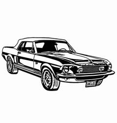 1968 shelby mustang gt500 vector