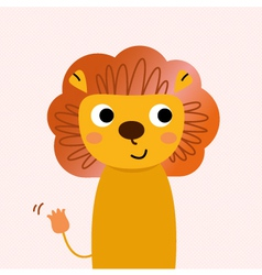 Beautiful cartoon Lion character vector image