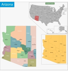 Arizona map vector