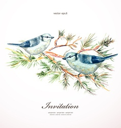 watercolor painting wild bird at nature in vector image