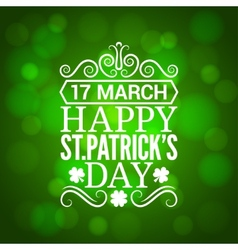 Patrick day sign design background vector