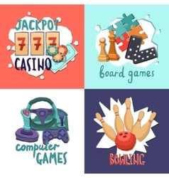 Game design concept vector