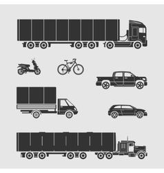 Symbol car set vector