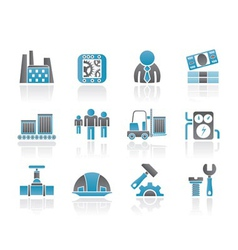 Business and factory icons vector