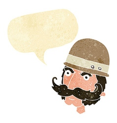Cartoon victorian big game hunter with speech vector