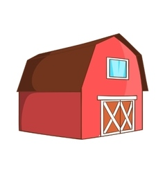 Barn for animals icon cartoon style vector image