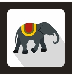 Elephant icon in flat style vector