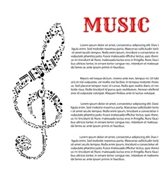 Music infographic template with treble clef vector