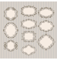 abstract frames lines vector image