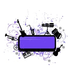 abstract musical background with music instruments vector image