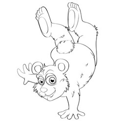 Animal outline for bear vector
