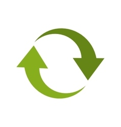 arrow recycle envioment nature energy design vector image