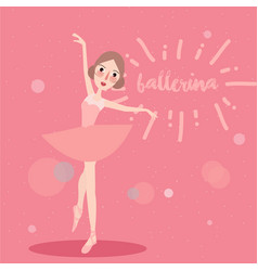 Ballerina little girl wearing ballet tutu dress vector