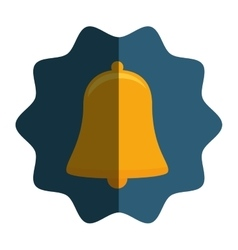 Bell alarm isolated icon vector