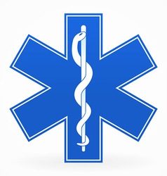 blue medical sign vector image