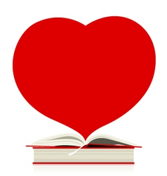 Book and heart design on white design vector