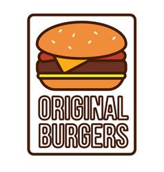 Burger logotype template vector