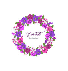 Business template round floral design vector