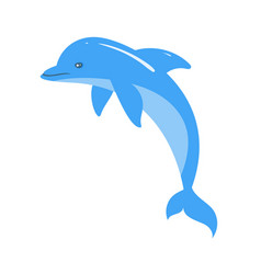 cartoon style of dolphin vector image vector image