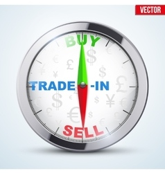 Compass for forex trader vector