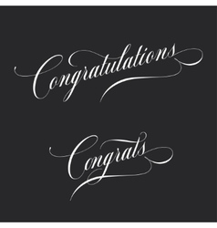 Congratulations retro style lettering vector