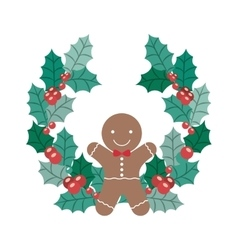 Coockie of merry christmas design vector